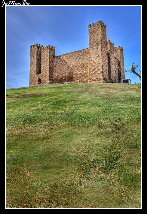 El Castillo de Sádaba es de estilo bajomedieval con decoraciones cistercienses del siglo XIII. No muestra elementos defensivos, como la torre del homenaje o el foso o la barrera; las saeteras y los vanos son escasos y no posee matacanes. Como propias defensas tiene el grosor de sus muros, con torres cuadradas rematadas en almenas, y los adarves; a parte del acceso en recodo, de influencia árabe.