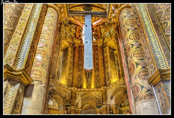 Primitivo templo románico de los Templarios, datado en l siglo XII, convertido en en cabecera de la iglesia, psando su tambor interior a funcionar como altar mayor. Durante el siglo XVI se le incorporaron obras de pinturas de retablo y murales, estuque, talla y escultura en madera.