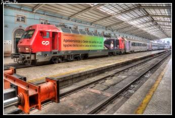 La Estación de ferrocarril de Santa Apolónia, se sitúa en el centro urbano de Lisboa, a orillas del Tajo, en el barrio de Alfama. De la estación parten los principales trenes internacionales de larga distancia al extranjero, considerada como la estación central de la capital portuguesa.