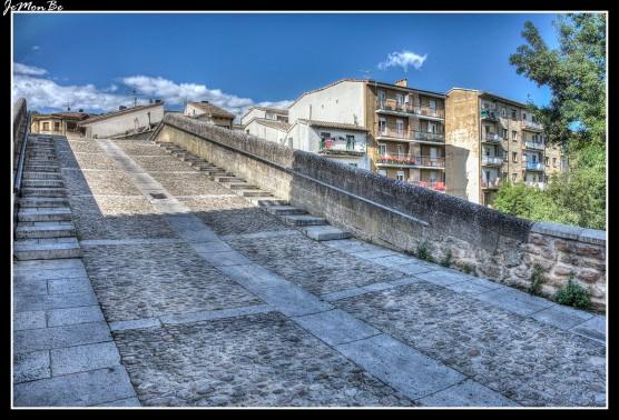 El puente de la cárcel de Estella es un puente románico de un solo arco y realizado en piedra, enlaza los núcleos de población separados por el río Ega. Se le conoce popularmente como puente picudo.