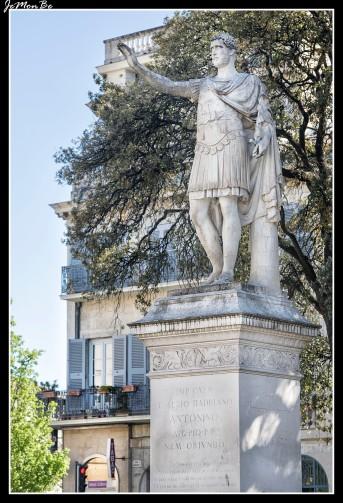 En el siglo XVIII se creó en Nîmes uno de los primeros jardines públicos en Europa. Respetando la planta de un antiguo santuario del siglo I, un arquitecto diseño un jardín a la francesa adornado con macetas y estatuas de mármol. Una plantación de árboles del siglo XIX nos acerca a especies mediterráneas como pinos, cipreses, robles, boj y laurel. El jardín ocupa una superficie de 106,309 metros. El parque refleja la prosperidad de Nîmes del siglo XVIII, en el que la manufactura textil era la base de su economía. La actividad de los talleres tintoreros dependía de la fuente del jardín.